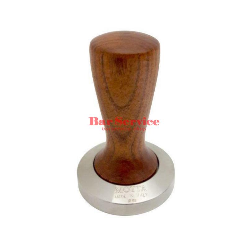 Темпер Мотта SLIM 58 мм. (плоский) рукоятка из дерева в Тольятти